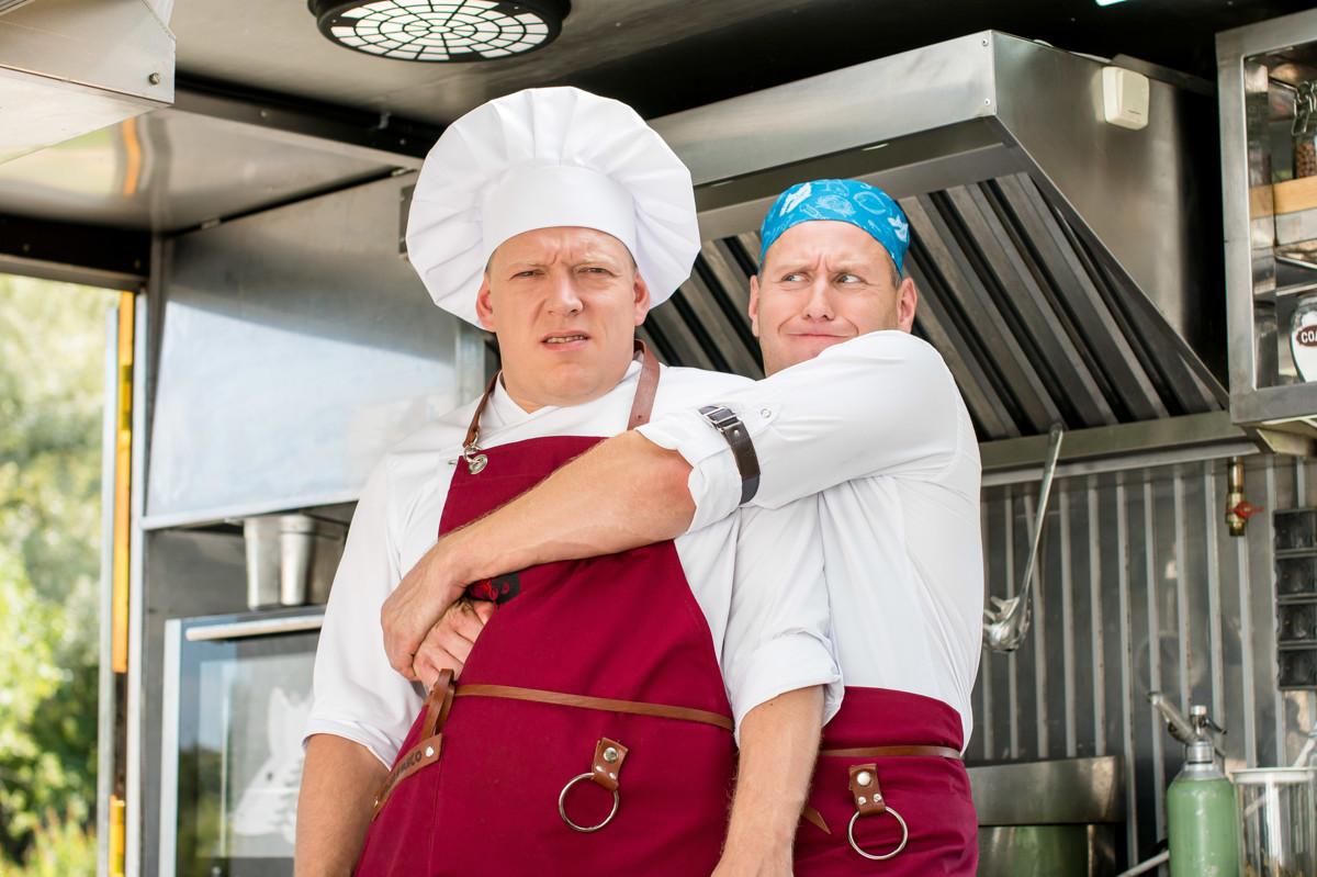 Федор Добронравов и Сергей Дорогов